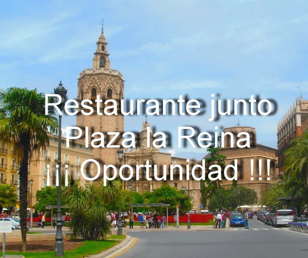 Restaurante detras Plaza la Reina.
