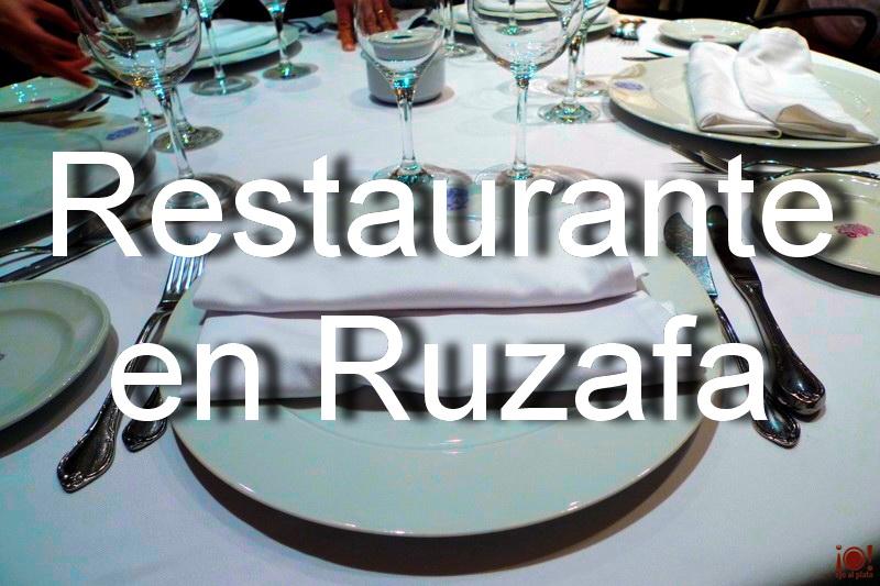 Restaurante en Ruzafa. Inmejorable